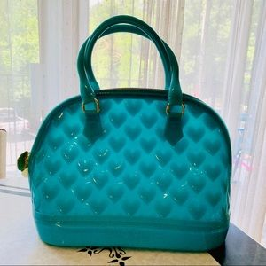 Betsey Johnson Teal Jelly Dome Purse